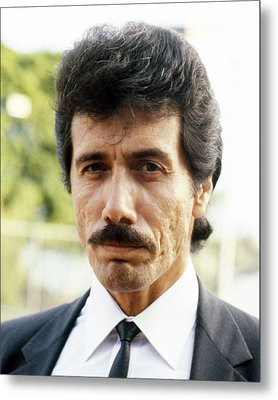 Edward James Olmos In Miami Vice  Metal Print by Silver Screen