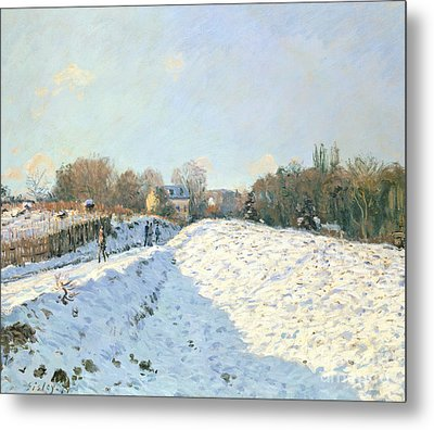 Effect Of Snow At Argenteuil Metal Print by Alfred Sisley