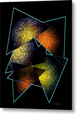 Effects Triangles Metal Print by Mario Perez