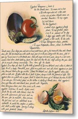 Eggplant Parmigiana Metal Print by Alessandra Andrisani