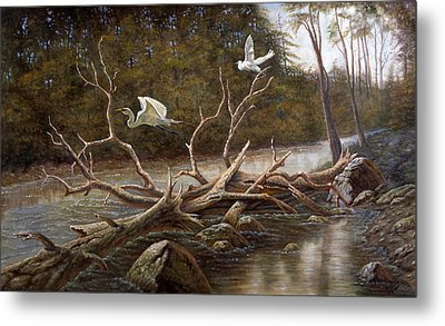 Egret's Paradise Metal Print by Gregory Perillo