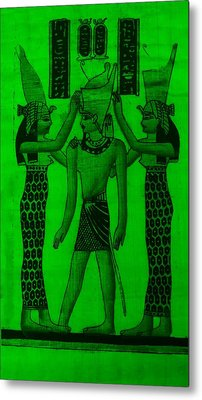 Pharaoh Atem Green Metal Print by Rob Hans