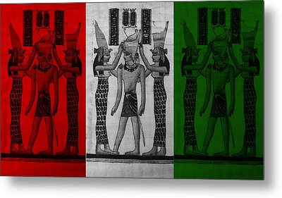 Pharaoh Atem In Flag Colors Metal Print by Rob Hans