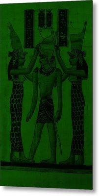Pharaoh Atem Olive Metal Print by Rob Hans