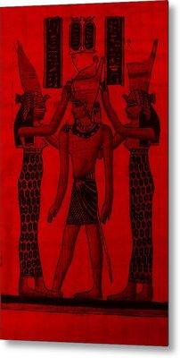Pharaoh Atem Red Metal Print by Rob Hans