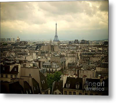 Eiffel Tower And Roofs Of Paris. France.europe. Metal Print by Bernard Jaubert