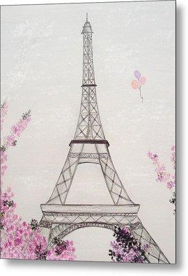 Eiffel Tower  Metal Print by Christine Corretti