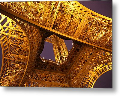 Eiffel Tower - Paris France - 011312 Metal Print by DC Photographer
