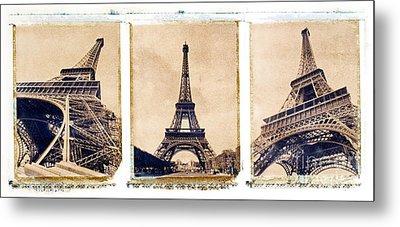 Eiffel Tower Metal Print by Tony Cordoza