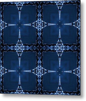 Eiffelart 28 Metal Print by Mike McGlothlen