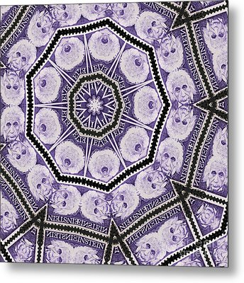 Einstein Mandala Metal Print by Andy Prendy