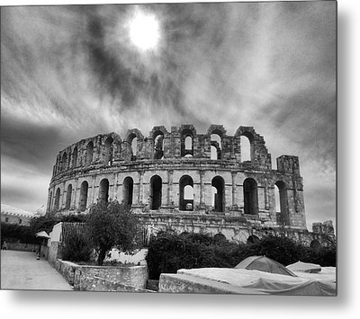 El Jem Colosseum 2 Metal Print by Dhouib Skander