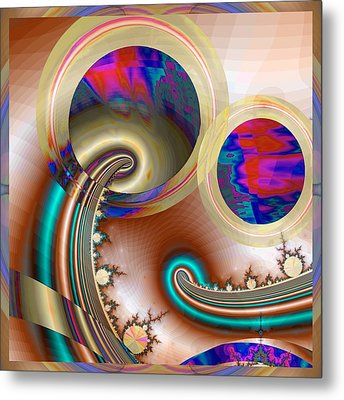 Electric Blue Metal Print by Wendy J St Christopher