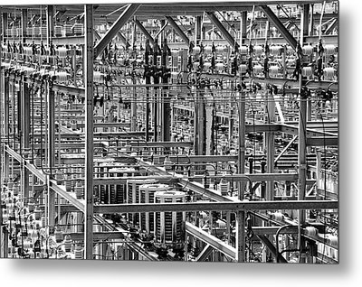 Electric Power Grid Metal Print by Jim Hughes