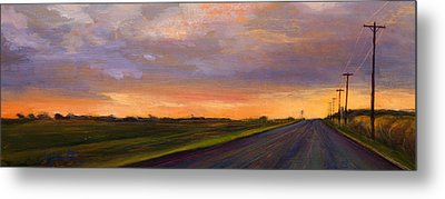 Electric Sunset 2 Metal Print by Athena  Mantle