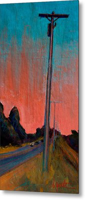 Electric Sunset Metal Print by Athena  Mantle