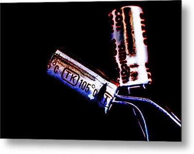 Electrical Components  Metal Print by Toppart Sweden