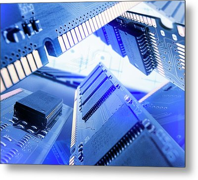 Electronic Components Metal Print by Richard Kail