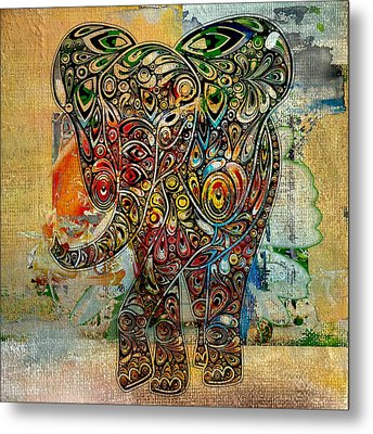 Elefantos - Co01at03 Metal Print by Variance Collections