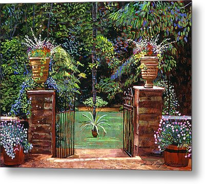 Elegant English Garden Metal Print by David Lloyd Glover