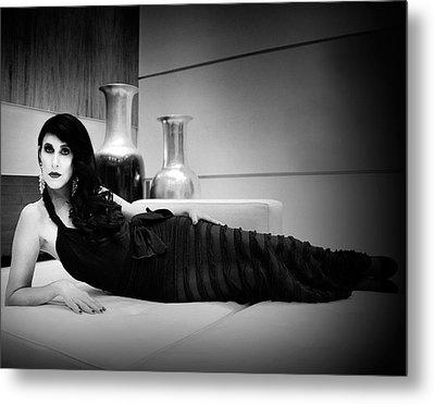Elegant Seduction Film Noir Metal Print by William Dey