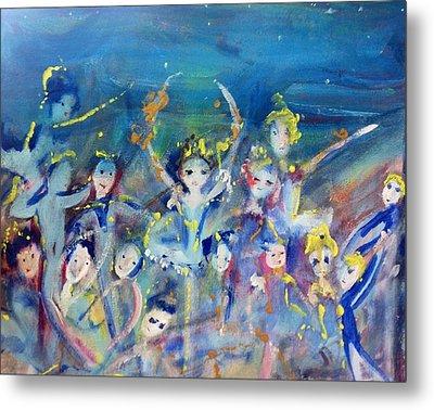 Elementals On The Beach Ballet Metal Print by Judith Desrosiers
