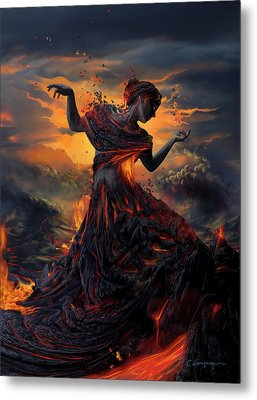 Elements - Fire Metal Print by Cassiopeia Art