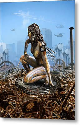 Elements - Metal Metal Print by Cassiopeia Art