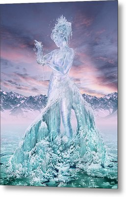 Elements - Water Metal Print by Cassiopeia Art