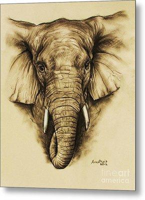 Elephant 2 Metal Print by Anastasis  Anastasi