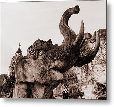 Elephant Architecture Metal Print by Ramona Johnston