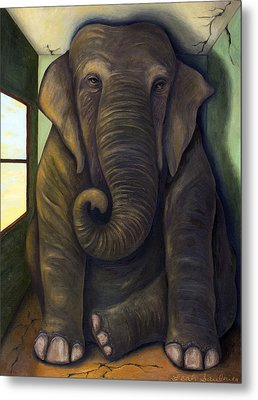 Elephant In The Room Metal Print by Leah Saulnier The Painting Maniac