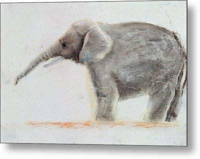 Elephant  Metal Print by Jung Sook Nam