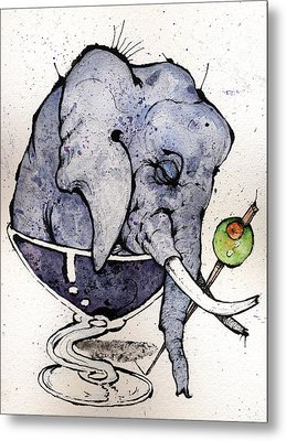 Elephantini Metal Print by Mark M  Mellon