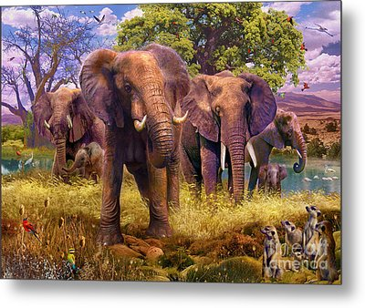 Elephants Metal Print by Jan Patrik Krasny