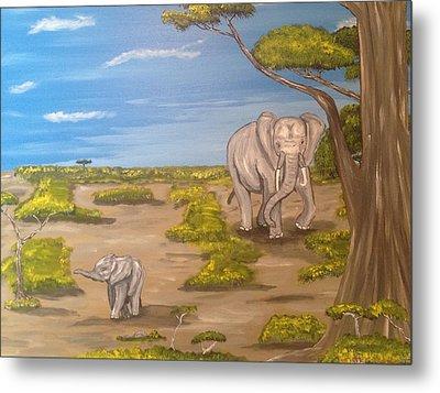 Elephants Metal Print by Scott Wilmot