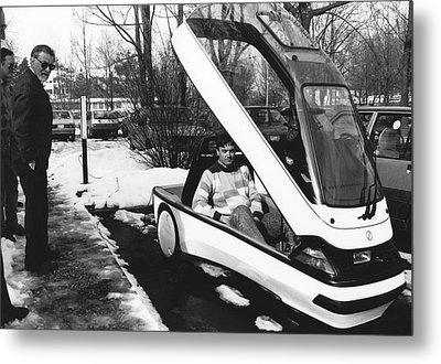 Ellert Electric Car At Ibm Metal Print by Ibm Research