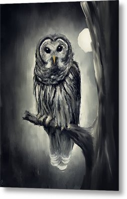 Elusive Owl Metal Print by Lourry Legarde