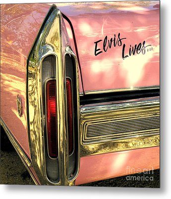 Elvis Lives Metal Print by Joe Jake Pratt