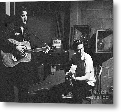 Elvis Presley And Scotty Moore 1956 Metal Print by The Phillip Harrington Collection