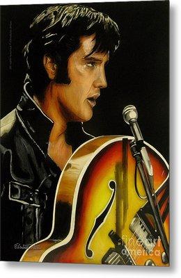 Elvis Presley Metal Print by Betta Artusi