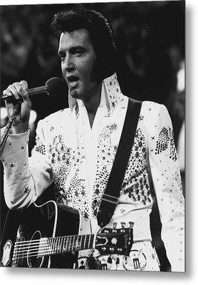 Elvis Presley Singing Metal Print by Retro Images Archive