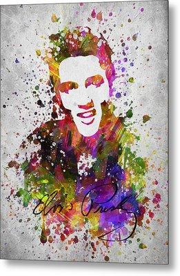 Elvis Presley In Color Metal Print by Aged Pixel