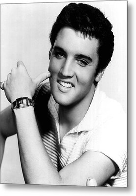 Elvis Presley Looking Casual Metal Print by Retro Images Archive