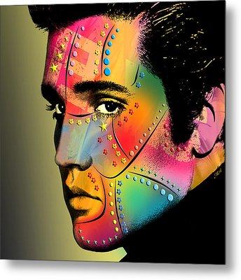 Elvis Presley Metal Print by Mark Ashkenazi