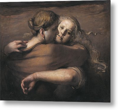 Embrace Metal Print by Odd Nerdrum