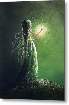 Emerald Fairy By Shawna Erback Metal Print by Shawna Erback