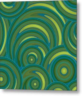 Emerald Green Abstract Metal Print by Frank Tschakert