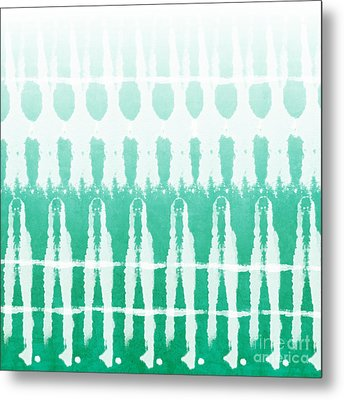 Emerald Ombre  Metal Print by Linda Woods