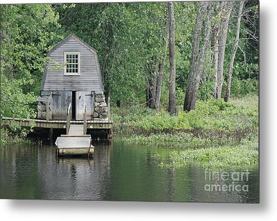 Emerson Boathouse Concord Massachusetts Metal Print by Amy Porter
